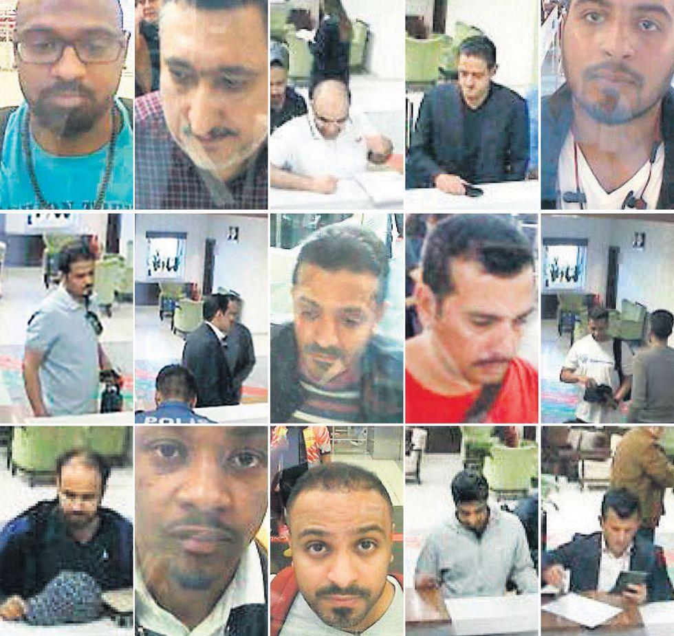 Los supuestos implicados en la desaparición del periodista saudí. (AFP).