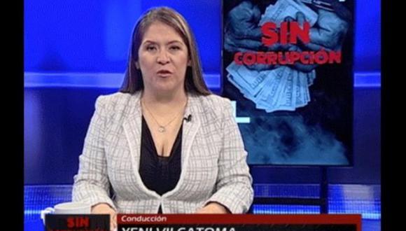 """Congresista Yeni Vilcatoma, tercera vicepresidenta del Congreso, conducía el programa """"Sin corrupción"""""""