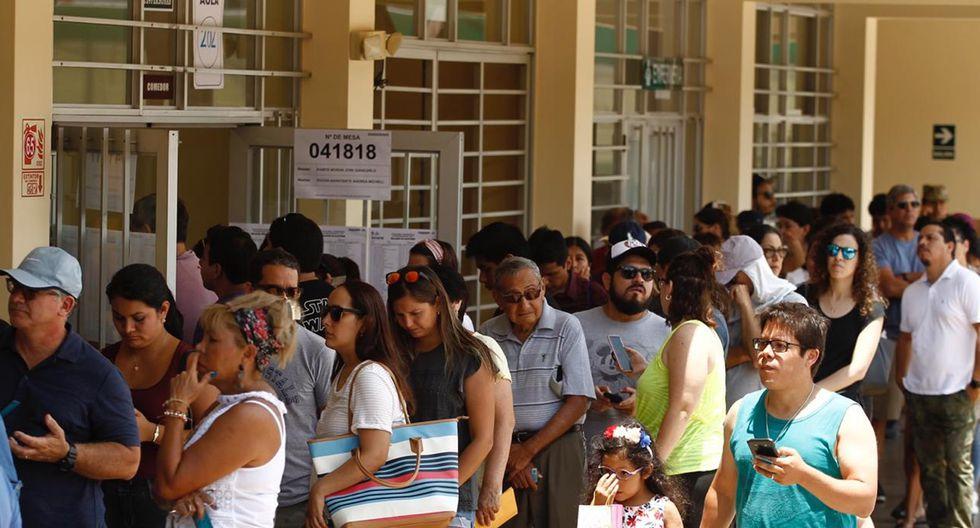Elecciones congresales extraordinarias.  (Foto: Leandro Britto)