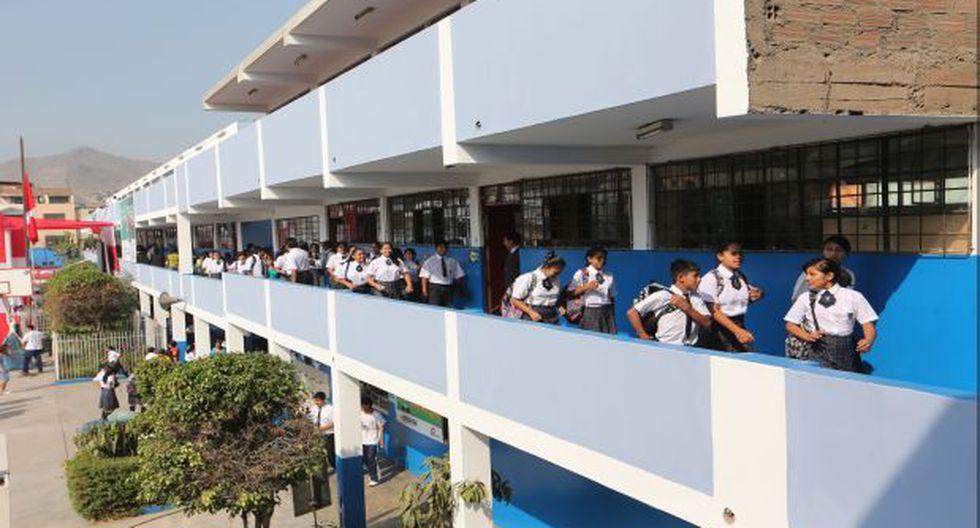 Benavides comentó que el Minedu ha solicitado información a los más de 14 mil colegios privados del país para saber si han cumplido con entregar a los padres de familia la relación de sus costos. (Foto referencial: Archivo El Comercio)