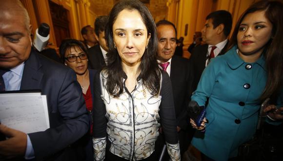 La fiscal Mori ha solicitado 36 meses de prisión preventiva para la ex primera dama Nadine Heredia por el Caso Gasoducto. (Foto: Alonso Chero | Archivo El Comercio)