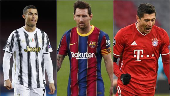 Cristiano Ronaldo, Lionel Messi y Robert Lewandowski son los tres finalistas para el premio 'The Best' | Fotos: Agencias