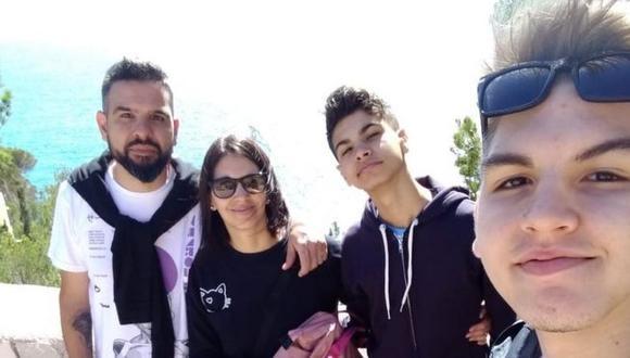 Juan, Valeria, Julián y Agustín viajaron de Argentina a España en marzo y quedaron varados por la pandemia. (GENTILEZA FAMILIA CAÑIZARE SIMONE).