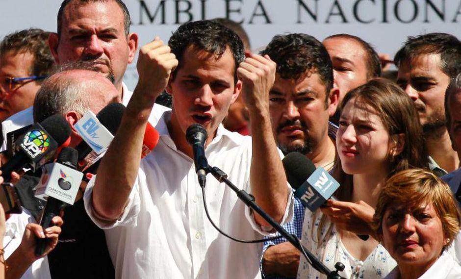 Guaidó fue retenido el domingo por miembros del Sebin cuando se desplazaba por la autopista que conecta a Caracas con el estado de Vargas. (EFE).