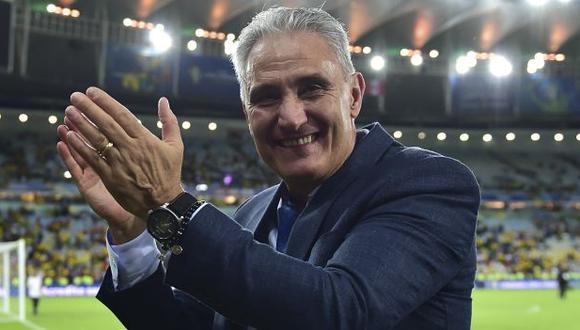 Tite cumplirá ante Perú 50 partidos al mando de Brasil. (Foto: AFP)