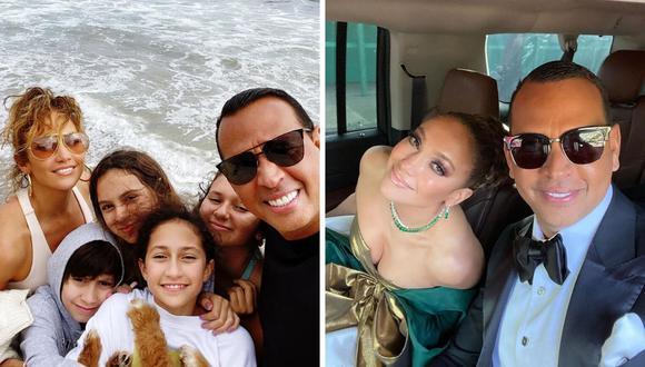 Jennifer Lopez y su familia jugaron béisbol en el Día de la Independencia de Estados Unidos. (@arod).