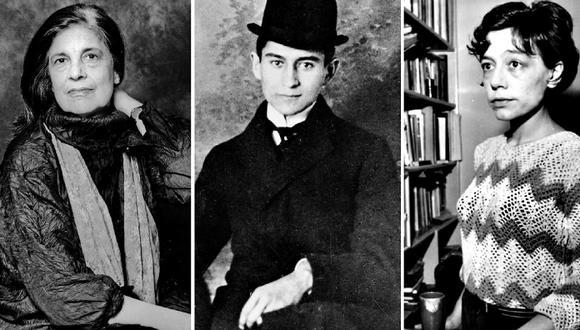 La estadounidense Susan Sontag, el checo Franz Kafka y la argentina Alejandra Pizarnik son algunos de los personajes cuyos diarios han sido estudiados para entender una época o un estilo de vida. (Fotos: Getty Images / La Nación de Argentina)