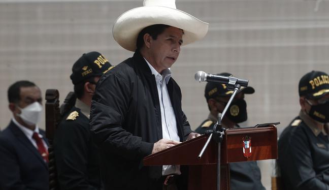 La desaprobación a la gestión de Pedro Castillo alcanza este mes 48%, de acuerdo con la última encuesta El Comercio-Ipsos. (Foto: Cesar Campos / GEC)