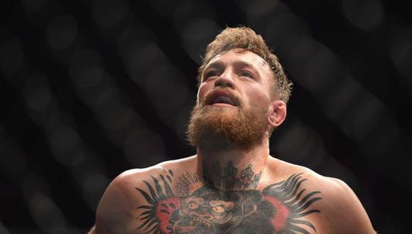 McGregor se pronunció en Twitter luego del accidentado final de su combate ante Nurmagomedov en elT-Mobile Arena de las Vegas. (Foto: AFP)