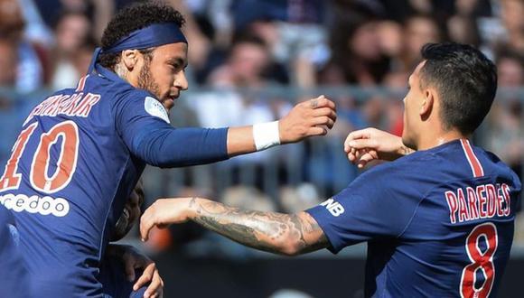Neymar y Leandro Paredes estuvieron presentes en la goleada 5-0 del PSG sobre Montpellier por la Ligue 1. (Foto: Agencias)