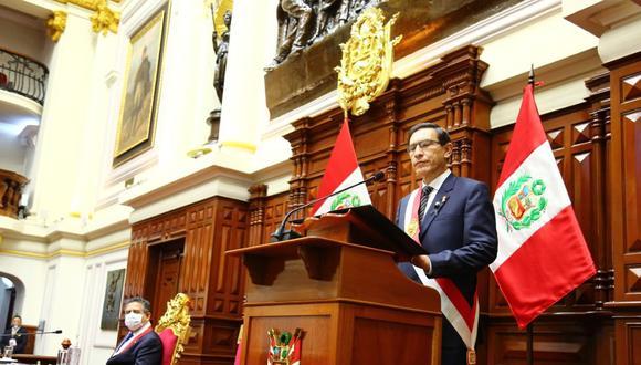 El presidente Martín Vizcarra adelantó que convocará a los partidos políticos para lograr una agenda de cara a las Elecciones 2021. (Foto: Congreso)