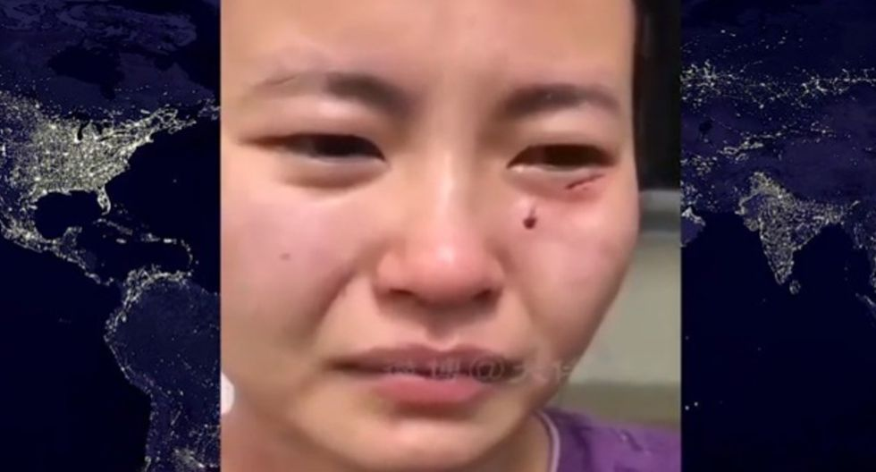 La mujer fue brutalmente agredida por un ciudadano nigeriano. | Foto: Noticias TV México/YouTube