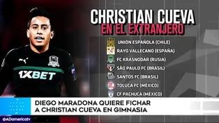 Maradona quiere fichar a Christian Cueva para Gimnasia