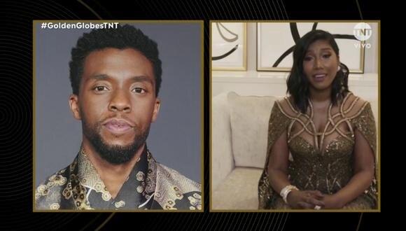 """Chadwick Boseman ganó como Mejor actor de drama gracias a su rol en la película """"Ma Rainey's Black Bottom"""". Su esposa recibió el premio en su nombre. (Foto: TNT)"""