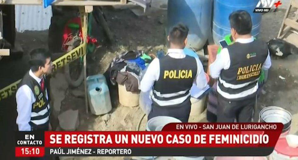 El feminicidio ocurrió en el asentamiento humano Los Heraldos de Motupe, en San Juan de Lurigancho. (ATV+)
