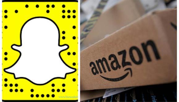 Amazon y Snapchat