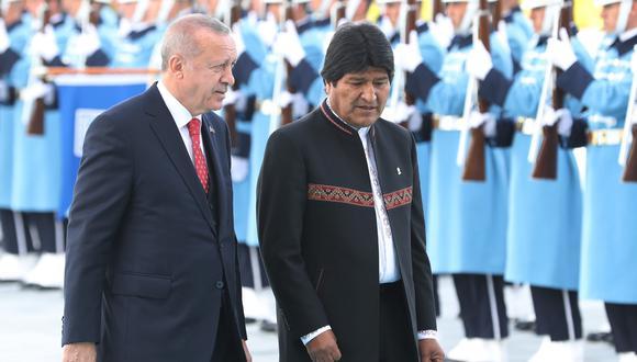 Presidente de Turquía, Recep Tayyip Erdogan, llegará a Bolivia a fines de 2019, asegura Evo Morales. Foto: Archivo de AFP