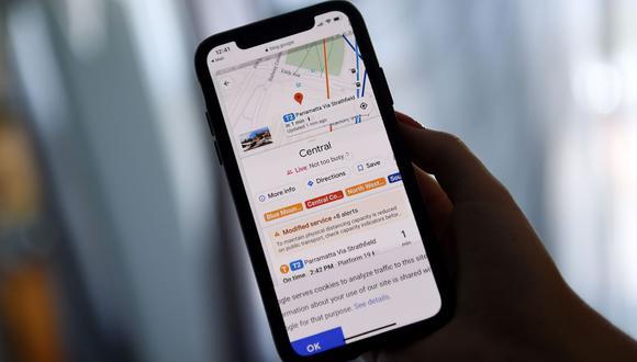 Esta imagen de ilustración muestra la aplicación de mapas de Google en Arlington, Virginia, el 9 de junio de 2020. (AFP / Olivier DOULIERY).