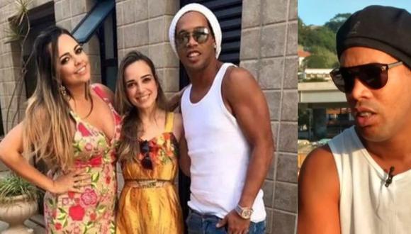 """En una entrevista con """"Globo Televisión"""", Ronaldinho negó la información que indicaba que se iba a casar con dos mujeres. Incluso, el brasileño se mostró extrañado. (Foto: Twitter)"""