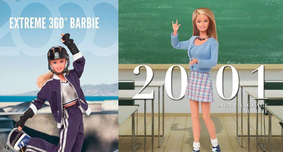 """En la década pasada, lanzaron más modelos con ejemplos a seguir bajo su lema """"Sé lo que quieras ser"""", entre los que destacó la Barbie skater y la profesora de lengua de señas. (Fotos: Instagram/ @barbie)"""