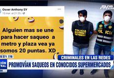 Coronavirus Perú: Policía captura a tres sujetos que promovían saqueos a supermercados en Facebook