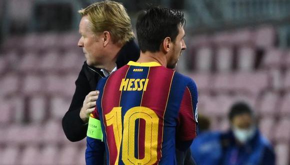 """Koeman se rinde ante Messi: """"Es el hombre más importante en la historia del Barza"""". (Foto: AFP)"""