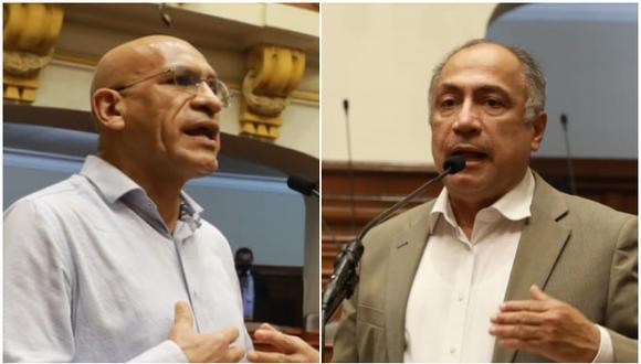 Ministros de Economía, Waldo Mendoza, y Trabajo, Javier Palacios, se presentaron en el pleno. (Fotos: Congreso de la República)