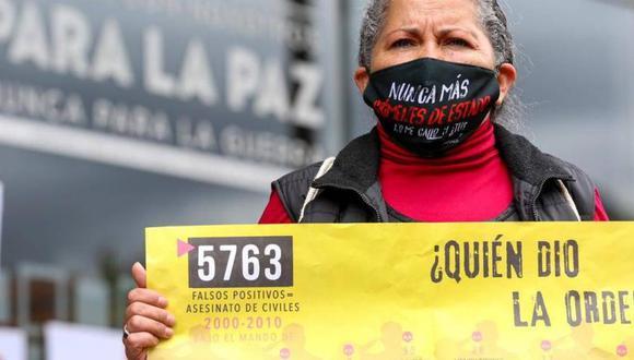 Las víctimas de ejecuciones extrajudiciales se han manifestado exigiendo resultados en la investigación. (Foto: El Tiempo)