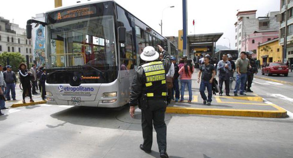 Metropolitano: buses A y C se detendrán 20 minutos por carrera