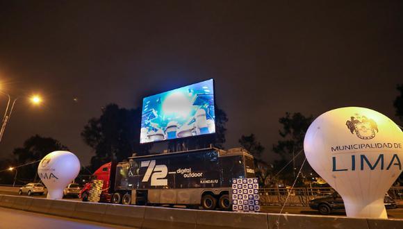 De acuerdo con la comuna capitalina, en la cuadra 15 de la Av. Brasil, límite de Jesús María con Pueblo Libre, se instalará una pantalla itinerante para que los vecinos puedan disfrutar de películas, cortometrajes, clases de bailes y karaoke. (Foto: MML)