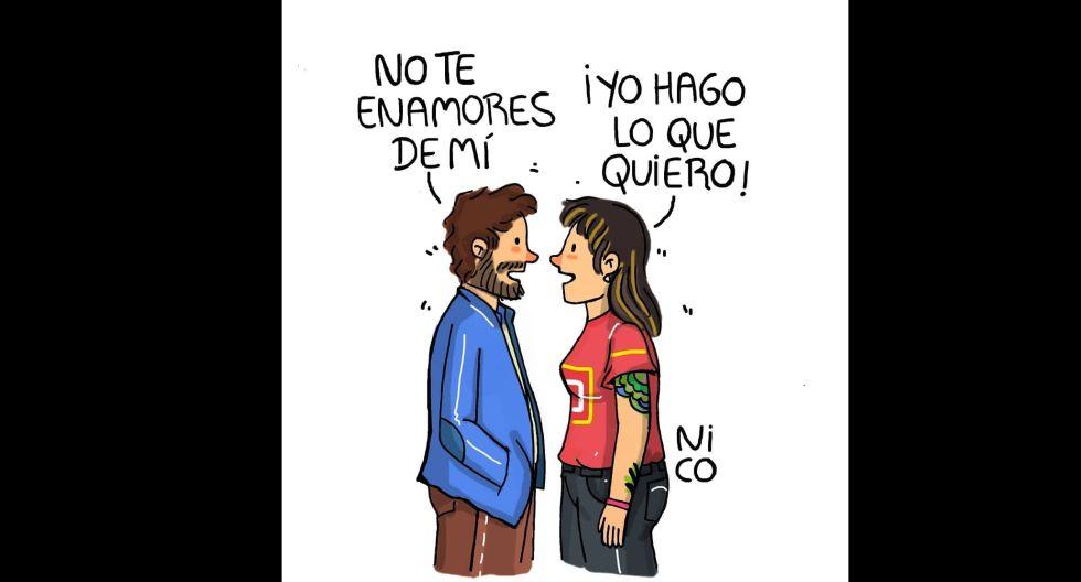 Las contradicciones sobre enamorarse o no. (Foto: IG/ @nicoilustraciones)