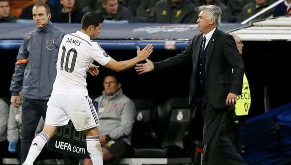 Carlo Ancelotti se refiere a la posible llegada de James Rodríguez al Everton. (Foto: EFE)