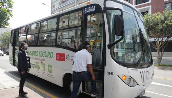 Vuelven a operar las rutas de Mi Bus en San Isidro. (Foto: Municipalidad de San Isidro)