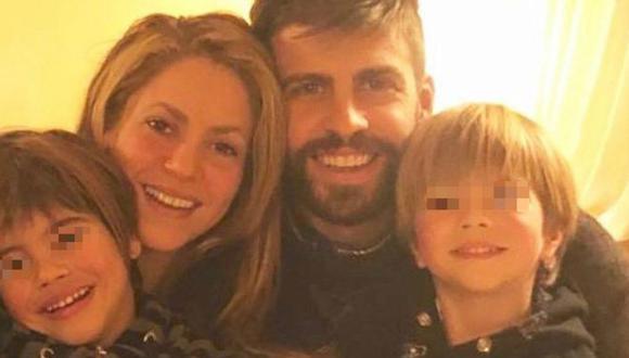 Shakira y Gerard Piqué comparten fotografía en Instagram junto a sus hijos. (Foto: Instagram)