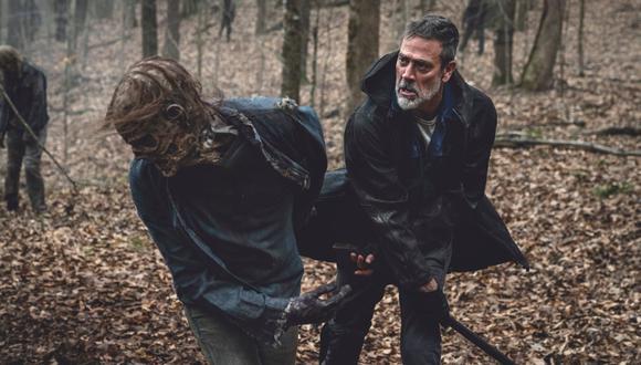"""Jeffrey Dean Morgan como Negan en un adelanto de la undécima temporada de """"The Walking Dead"""". (Fuente: AMC)"""