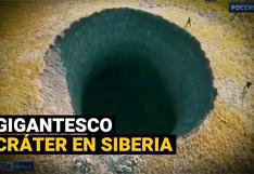 Siberia: enorme cráter de 50 metros de profundidad que desconcierta a los científicos