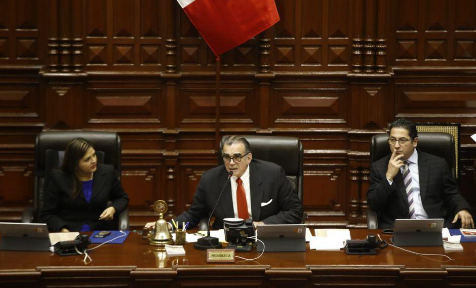El Parlamento oficializó sanciones contra Ponce, Salaverry, Mamani y Vieira. (Foto: Renzo Salazar / GEC)