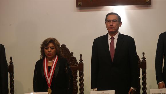 """""""Siempre la posición jurídica había sido que al presidente no se le investiga"""", señaló la fiscal de la Nación. (Foto: GEC)"""