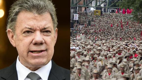 """Santos llama """"a la cordura"""" ante """"militarización"""" en Venezuela"""