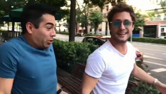 """Diego Boneta y Omar Chaparro parodian """"Luis Miguel, la serie"""". (Foto: Captura de pantalla / Instagram)"""