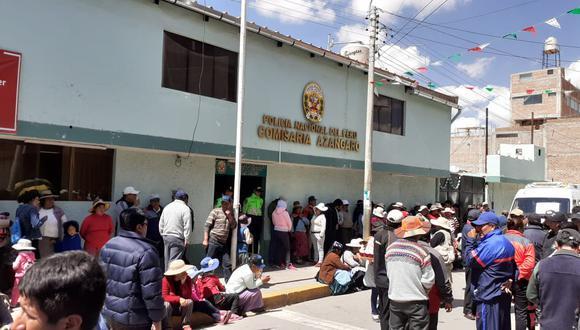 Los protestantes son transportistas de la empresa 12 de Noviembre. (Foto: cortesía Defensoría)