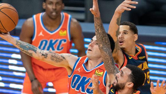 Gabriel Deck jugó su quinto partido en la NBA con Oklahoma City Thunder