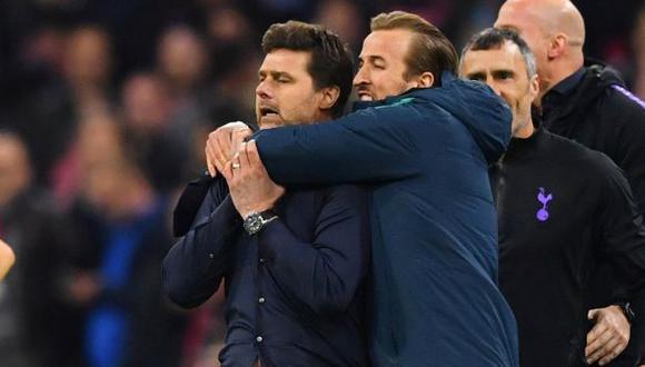 Pochettino y Kane en las semifinales de la Champions League. (Foto: Reuters)