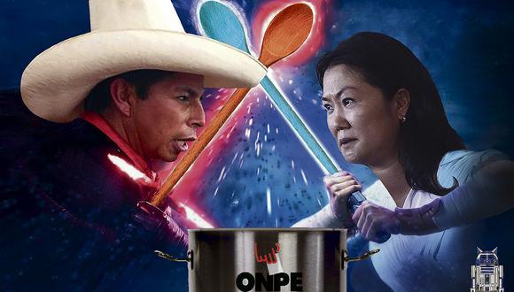 Los lugares en donde la suma de blancos y viciados se muestra relevante son aquellos en los que Keiko Fujimori lleva la delantera. (Ilustración: Víctor Aguilar)