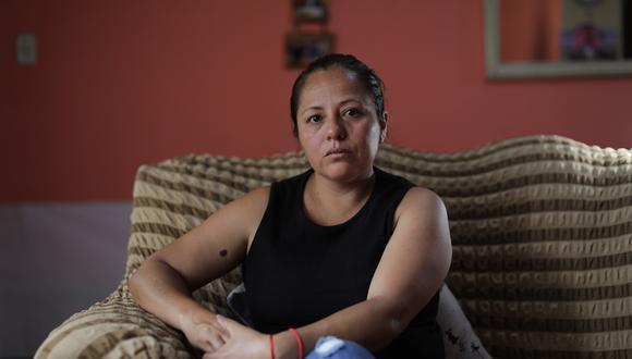 Gysela Luján sufre algo peor que el vacío que queda en su casa: la indolencia de las autoridades. (Foto: Anthony Niño de Guzmán)