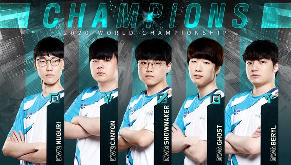 Damwon Gaming es un equipo de Corea del Sur de League of Legends. (Imagen: Lol Esports / Twitter)