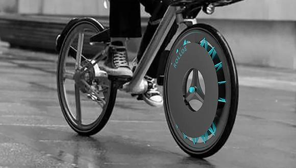 Además de ser un vehículo sustentable y demandado para trasladarse en las ciudades, la rueda Rolloe promete filtrar el aire contaminado de las ciudades. (Difusión)