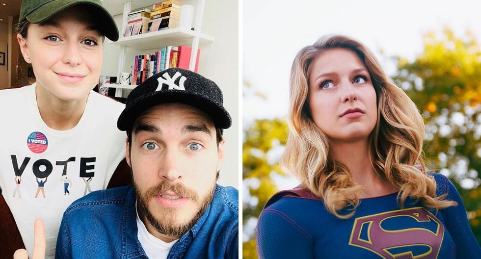 Melissa Benoist y Chris Wood se casaron el año pasado en una ceremonia privada. (@melissabenoist / @supergirlecw)
