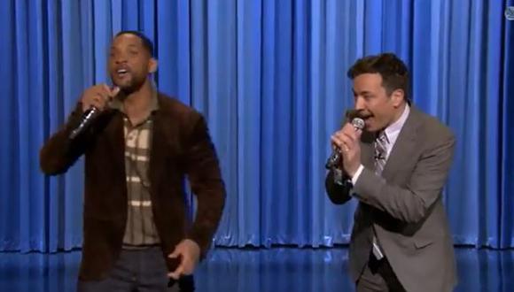 Jimmy Fallon y Will Smith protagonizaron divertido 'beatbox'
