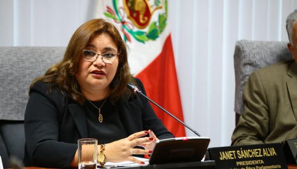 La presidenta de la Comisión de Ética, Janet Sánchez, aseguró que tomará acciones ante la acusación en su contra. (Foto: Congreso)